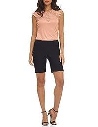 REKUCCI Shorts Modernos Super Comodos de Mujer, perfectos para la Oficina
