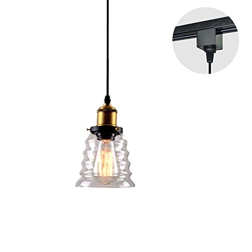 Clear Glass Pendant Track Lighting in US - 4