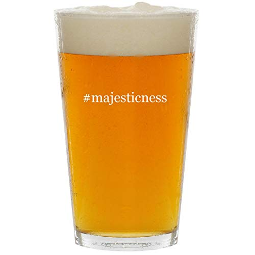 (#majesticness - Glass Hashtag 16oz Beer Pint)