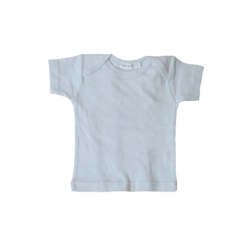 (Under the Nile Baby Boys' Organic Short Sleeve Lap Shoulder Tee, Ice Blue 6-9 Months)