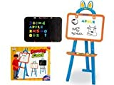 Liberty Imports 37'' Two-Sided Standing Easel 3-in-1 Magnetic Writing Board for Kids