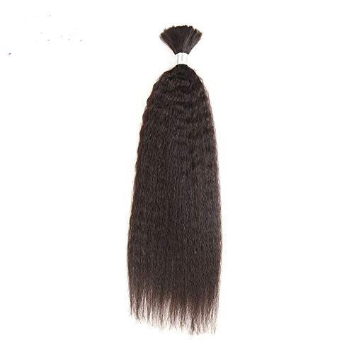 (Brazilian Yaki Human Hair In Weaves Bundles Hair For Braiding In Natural Color 1 PC)