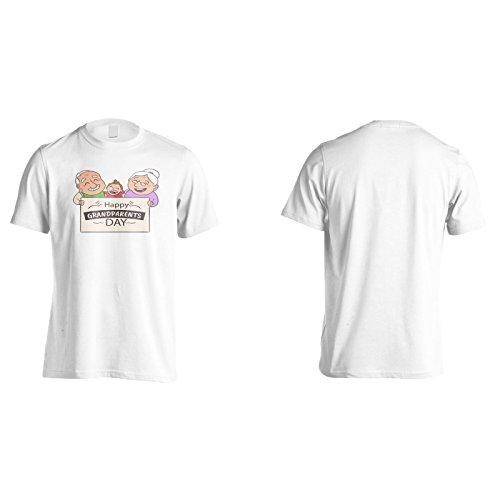 Neue Glückliche Großeltern Tag Herren T-Shirt m181m