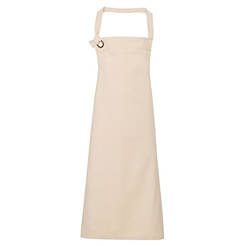Premier Unisex Calibre Heavy Cotton Canvas Bib Apron (Pack of 2) (One Size) (Natural)