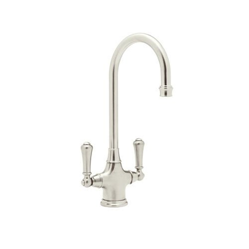 Rohl U.4711PN-2 Perrin and Rowe Mono Dual Lever Phoenician Bar Faucet Without Sidespray, Polished Nickel (Rowe Nickel And Perrin Faucet)