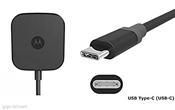 Motorola cargador Turbo Power 15, 15W, USB-tipo C, Negro