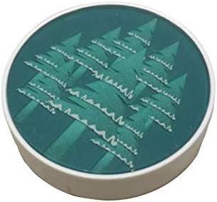 米布貿易 森モチーフ コンタクト レンズ ケース ファッション 雑貨 ピンセット 吸盤 保存液瓶 付属品完備 (C型)