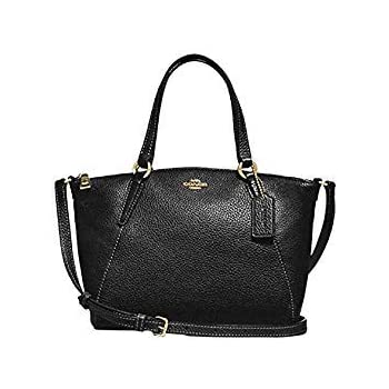 abfeae178ec2 Coach Pebble Leather Mini Kelsey Satchel Crossbody Handbag F28994 Black Imitation  Gold