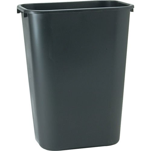 Standard Wastebaskets (Rubbermaid Commercial 295700BK Deskside Plastic Wastebasket, Rectangular, 10 1/4 gal, Black)