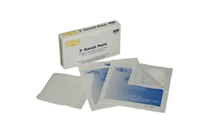 "Pac-Kit by First Aid Only 3-001 Gauze Pad, 3"" Length x 3"" Width (Box of 4) from Pac-Kit"