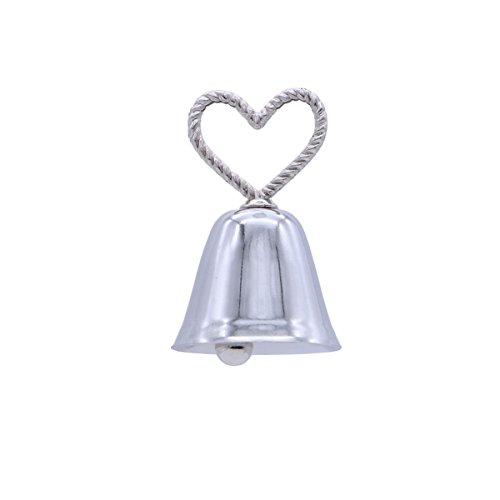 - BESTOYARD Wedding Table Number Holder Bell Heart Shape Place Card Holder Birthday Wedding Party Decorations (Silver)