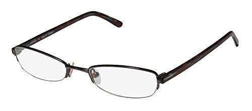 Karen Millen Km0063 Womens/Ladies Designer Half-rim Eyeglasses/Eyeglass Frame (50-18-140, Gunmetal / - Frames Glasses Karen Millen