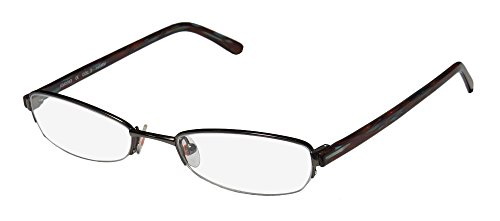 Karen Millen Km0063 Womens/Ladies Designer Half-rim Eyeglasses/Eyeglass Frame (50-18-140, Gunmetal / - Designer Karen Millen