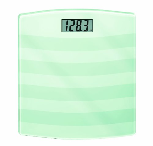 Weight Watchers by Conair Digital Painted Glass Bathroom Scale; 400 lb. capacity; Tempered Safety Glass Bath Scale; White