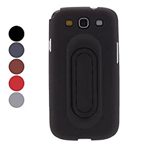 GONGXI Durable Hard Case with Stand for Samsung Galaxy S3 I9300 (Assorted Colors) , Black