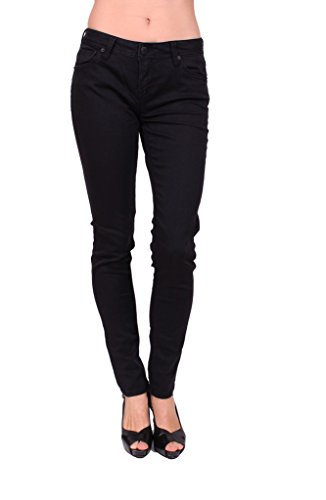 (Celebrity Pink Women Black Rinse Skinny Jeans with Flap Coin Pockets 11 Black Rinse)