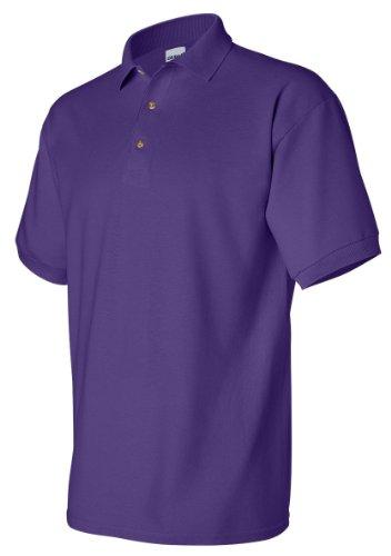 Ultra Cotton Pique Sport Shirt, Color: Purple, Size: Large (Shirt Sport Cotton Pique Ultra)