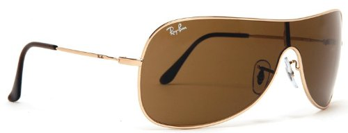 Ray-Ban RB 3211-001 73 Arista HIGHSTREET AVIATOR Sunglasses With Brown c1ae93d49982