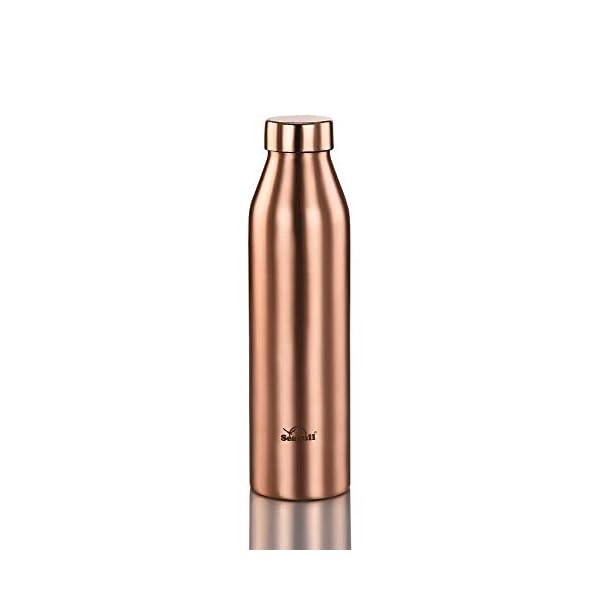 Seagull Copper 1 litre / 1000 ML Water Bottle, Leak Proof, Matt Finish Easy to clean, Pack of 1 for Office, Yoga, Gym…
