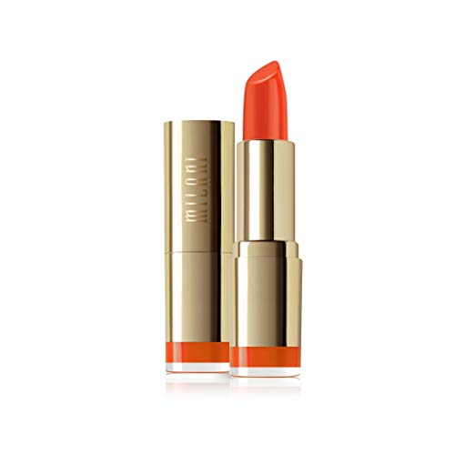 Milani Color Statement Lipstick - Orange Gina, Cruelty-Free Nourishing Lip Stick in Vibrant Shades, Orange Lipstick, 0.14 Ounce