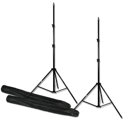 PBL Light Stands Photo Video 6'6'' Stands Set of Two with Bags by PBL