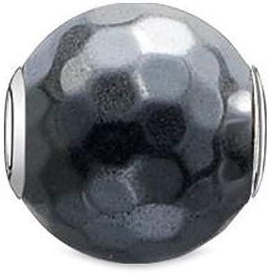 Thomas Sabo K0100-064-5 - Cuenta para mujer, hematita facetada, plata 925, color gris