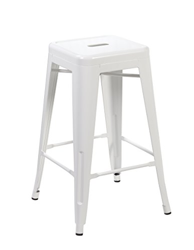 Ayvek Chairs Metal High ProStackable Indoor and Outdoor Backless Barstool