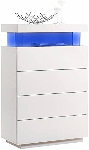 Devo Concept Commode Design 120 Cm En Mdf Et Mélamine