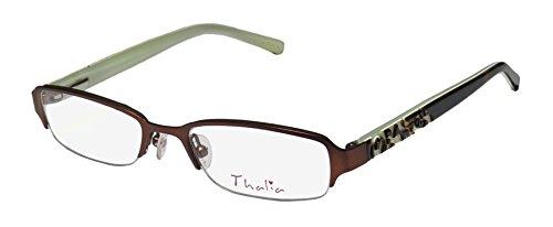 Thalia Brillante Childrens/Kids/Girls Designer Half-rim Eyeglasses/Glasses (46-17-125, Brown / Tortoise / - Glasses Prescription Designer Kids
