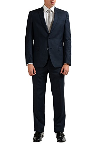 Versace Collection Blue Men's 100% Wool Two Button for sale  Delivered anywhere in USA