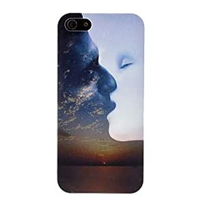 DUR Artistic Work of Kissing Lovers Pattern PC Hard Case for iPhone 5/5S