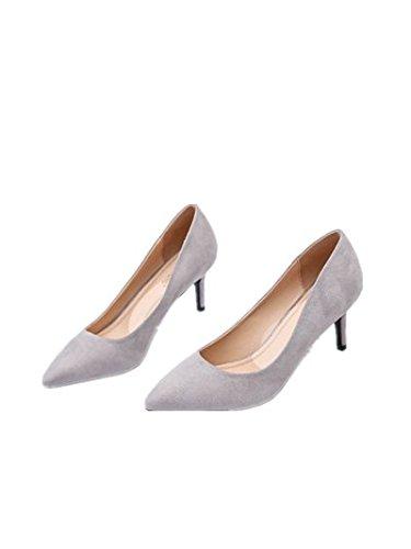 ElegantesSimple Ruanlei de Tacones Cerrado Charol Altos mujer luz de de Tacones de y baja fashion Mujer gray zapatos Altos elegante y Sexy Clásicas Tacones wvxOw