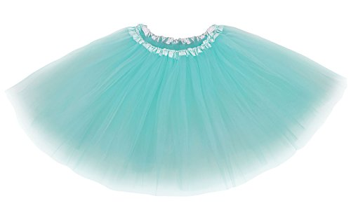 Women's Classical Vintage Triple Layered Tulle Tutu Skirt, Teal Green