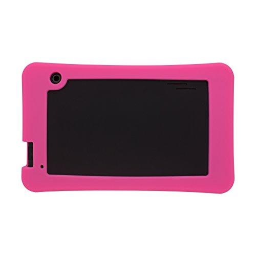 Transwon Silicone Case Compatible with RCA RCT66723W2 7 Inch, SmarTab ST7150, Yuntab T7, Haehne 7 Inches Tablet PC, DigiLand DL7006, Digiland DL721-RB / DL718M / Dl701q, iView SupraPad i700 - Pink