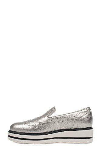 Hogan Slip On Sneakers Donna HXW3230X780BT8B200 Pelle Argento