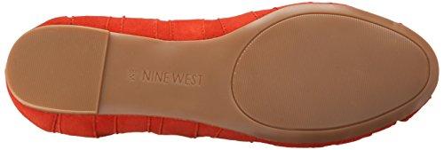 Nine West Munchkin Gamuza Ballet Flat Red Suede