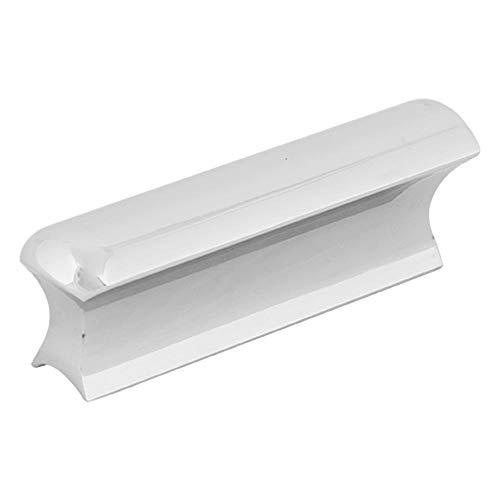 (Guitar String Slide Bar,Sliver Color Stainless Steel Solid Hawaii Electric Guitar Bass Lap Slide Bar Stick Silver Tone)