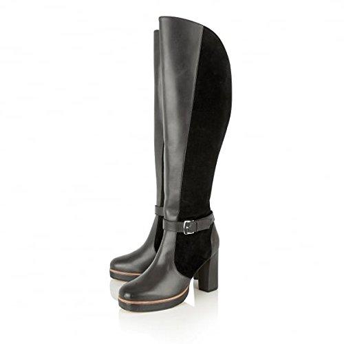 Ravel Rains Heeled Knee High Black Leather Boots zY5zWo