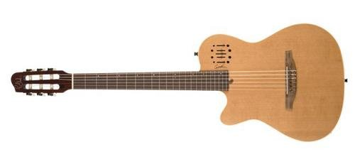 Godin Multiac 035878 6 Strings Hollow-Body Electric Guitar, Left-Handed, Natural SG
