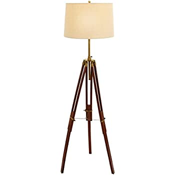 this item benzara unique lamps wood metal tripod floor lamp