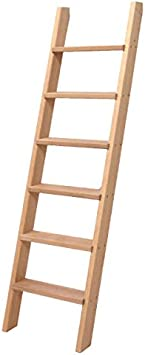 Escalera de madera – Longitud: 1,95 m – 7 peldaños: Amazon.es: Bricolaje y herramientas