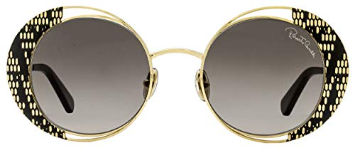 Roberto Cavalli Round Sunglasses RC1126 32B Gold/Black 53mm 1126