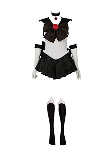 Cosfun Best Sailor Pluto Meiou Setsuna Cosplay Costume mp000694 (Size L (Bust: 34.5 inch)) Dark Brown]()
