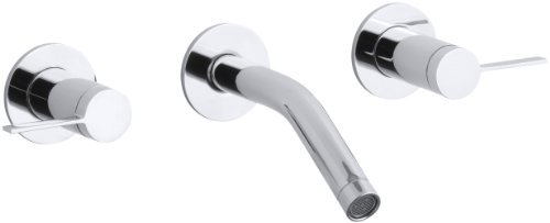 KOHLER K-T944-4-CP Stillness Wall-Mount Lavatory Faucet Trim, Polished Chrome ()