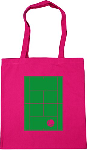 HippoWarehouse Tennis Court Tote Shopping Gym Beach Bag 42cm x38cm, 10 litres Fuchsia