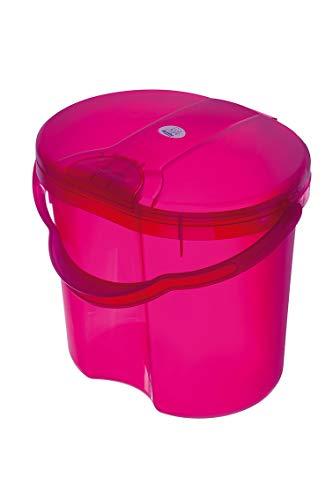 Rotho Baby Design Topline Translucent Nappy Pail, Pink