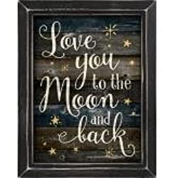 P. Graham Dunn Love to the Moon and Back Framed Art