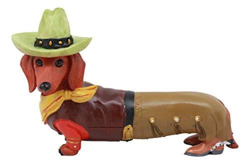 Ebros Doxie Collection Wild West Western Cowboy Dachshund Figurine 6