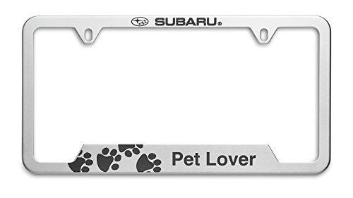 OEM Genuine Subaru Pet Lover License Plate Frame SOA342L166 Stainless Steel - License Plate Attachment Kit