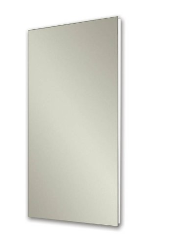 Jensen 1035P24WHG Cove Single-Door Recessed Mount Frameless Medicine Cabinet, 14 by 24-Inch Broan Recessed Steel Cabinets
